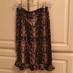 Small Leopard Ruffle Skirt